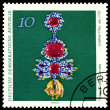 Stock Photo: Vintage postage stamp. Jewelry XVIII ages.