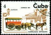 Vintage postage stamp. Bus. — Stock Photo