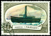 "Vintage postage stamp. Icebreaker "" Paylot "" — Stock Photo"
