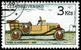Vintage postage stamp. Old-time classical cars.1. — Stock Photo