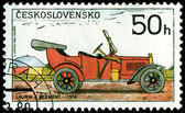 Vintage postage stamp. Old-time classical cars .2. — Stock Photo