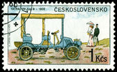 Vintage postage stamp. Old-time classical cars. 3. — Stock Photo