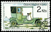 Vintage postage stamp. Old-time classical cars. 4. — Stock Photo