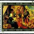 Vintage  postage stamp. Albrecht Durer. Adoration of the Kings. — Stock Photo