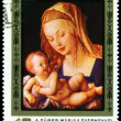 Vintage postage stamp. Albrecht Durer. Virgin and Child. — Stock Photo