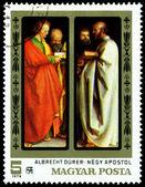 Vintage postage stamp. Albrecht Durer. The Four Apostles. — Stock Photo