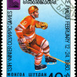 Vintage postage stamp. Olympic games in Lake Placid. 4. — Stock Photo #4530658
