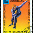 Vintage postage stamp. Olympic games in Lake Placid. 6. — Stock Photo