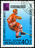 Vintage postage stamp. Olympic games in Lake Placid. 4. — Stock Photo