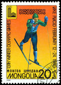 Vintage postage stamp. Olympic games in Lake Placid. 5. — Stock Photo