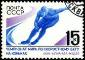 Briefmarke. skater-weltmeisterschaft in medeo. 1988. — Stockfoto