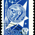Vintage postage stamp. Jury Gagarin. — Stock Photo