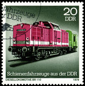 Vintage postage stamp. Diesel locomotive BR 110. — Stock Photo