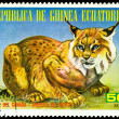 Vintage  postage stamp. Canadian lynx. — Stock Photo