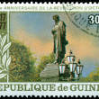 Vintage postage stamp.   Monument A. Pushkin. - Foto Stock