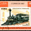 Stock Photo: Vintage postage stamp. Antique locomotive. 3.