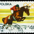Vintage  postage stamp. Steeplechase. - Stock Photo