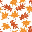 Seamless autumnal pattern — Stock Vector
