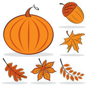 Autumnal icon set — Stock Vector