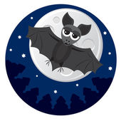 Cute little bat — Stock Vector