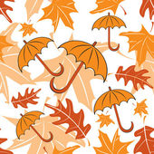 Seamless autumnal pattern with umbrellas — Stock Vector
