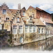 Bruges canal, Belgium — Stock Photo