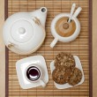 Top view of a tea set — Stock Photo