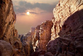 Sun over the canyon — Stock Photo
