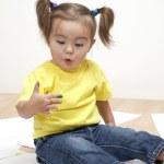 Baby artist — Stock Photo #5037305