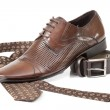 Tie, belt and shoe — Stock Photo #5218737