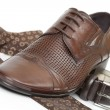 Tie, belt and shoe — Stock Photo #5218740
