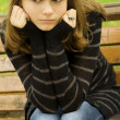 Stok fotoğraf: Beautiful girl in a park