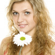 Face of woman with flower — Stock Photo #3942976