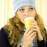 Cofee Woman — Stock Photo