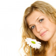 Stock Photo: Woman with flower