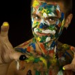 Stock Photo: Painted Man