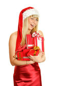 Beautiful christmas girl — Stockfoto