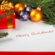 Christmas card of congratulations — Stock Photo #4214810