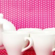 Cups and a teapot — Stock Photo