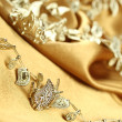 Background of golden fabric - Foto Stock