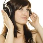 Woman listening to music — Stock Photo #4613259