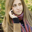 Young woman talking on the phone — Stock Photo #4685842