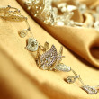 Background of golden fabric — Stock Photo #4784288