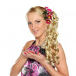 Romantic Coiffure — Stock Photo