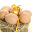Many eggs are in the bag — Stock Photo