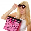 Beautiful young women shopping — Stock Photo #5226550