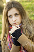 Attractive girl in park — Stock Photo
