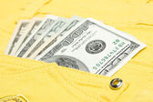 Dollars are in jeans pocket — Stock Photo