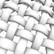 3D rendered illustration of interlaced fiber on white — Stock Photo