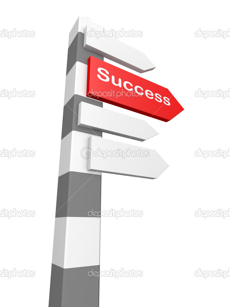 Conceptual image of signpost isolated on white — Stock Photo #4799534